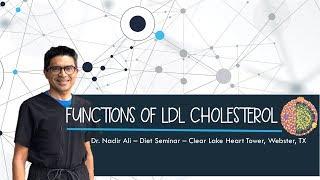 Functions of  LDL CHOLESTEROL | Dr Nadir Ali