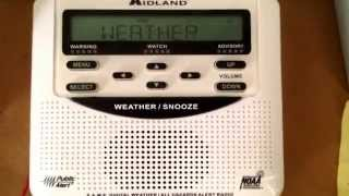 Weatheradio Canada - Extreme Cold Warning & Snow Squall Watch (07/01/2015)