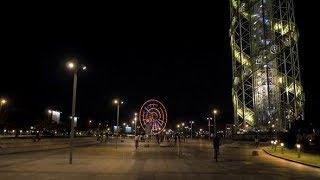 Ferris Wheel at Night in the City Batumi, Georgia | Stock Footage - Videohive