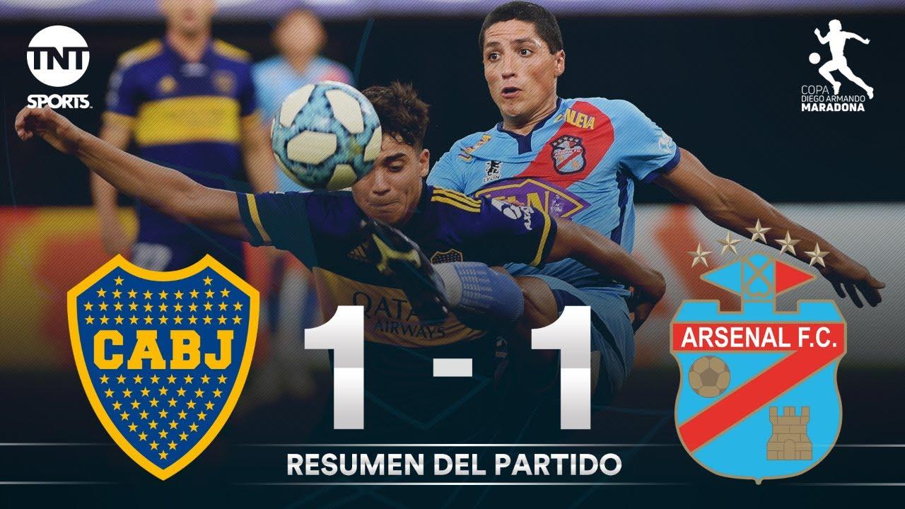 Resumen de Boca Juniors vs Arsenal (1-1)   Fecha 1 Grupo A - Fase Campeón Copa Diego Maradona
