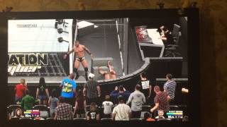 wwe 2k15 how to break hell in a cell