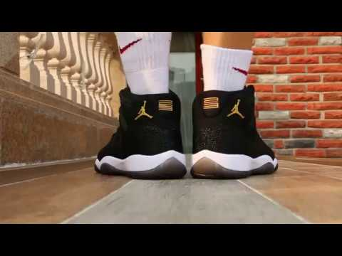 b2b3702276f9 Air Jordan 11 PRM Heiress (Black Stingray) On Foot Review - YouTube