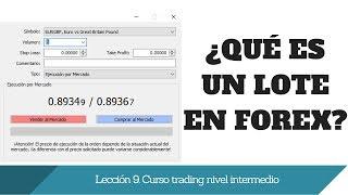 Qué es un LOTE en Forex. Lección 9 curso trading nivel intermedio. www.tutrader.com