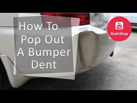 how to pop out a dent in a rubber bumper yourepeat. Black Bedroom Furniture Sets. Home Design Ideas