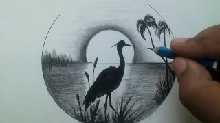 pencil easy drawing scenery draw nature drawings shading