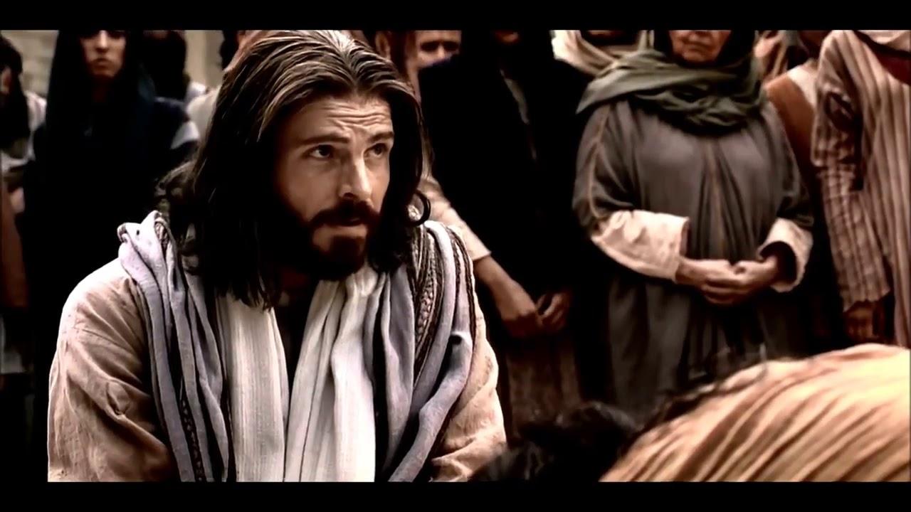 Jesus Christus vergibt der Sünderin Wer ohne Sünde ist