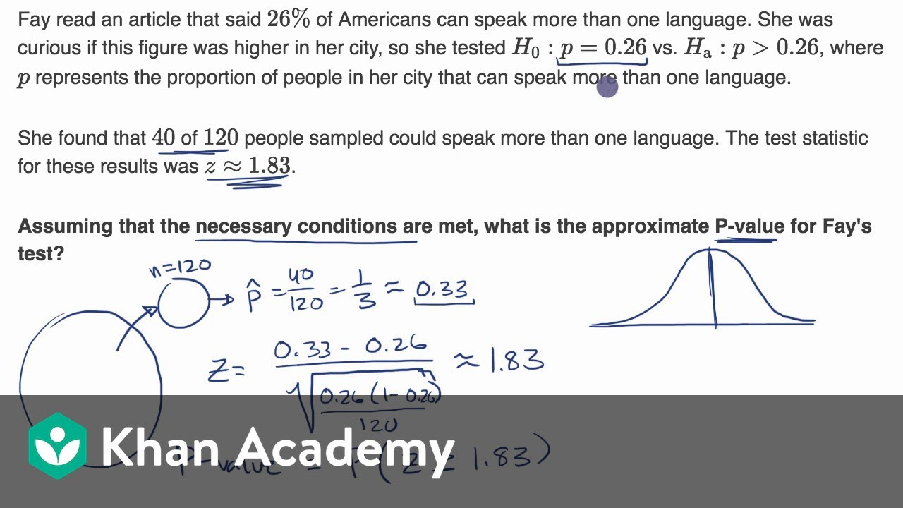 Calculating   value given  statistic ap statistics khan academy also rh youtube