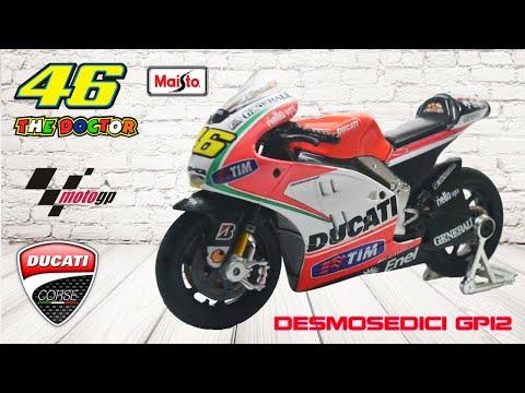 Diecast Miniatur Maisto Ducati Desmosedici GP12 Skala 1:18
