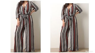 How to Cut and Sew Wrap Palazzo / wide leg Jumpsuit (Easy)