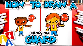 How To Draw A Cartoon Crossing Guard