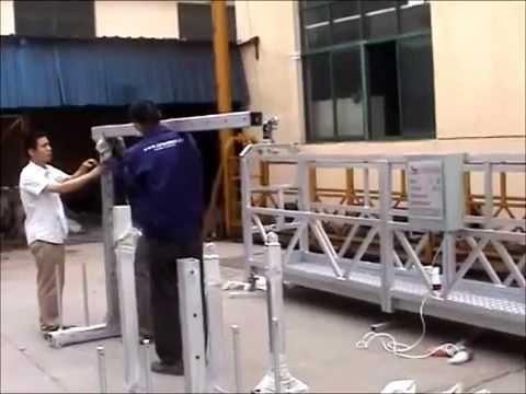 инструкция по монтажу люльки строительной Zlp630