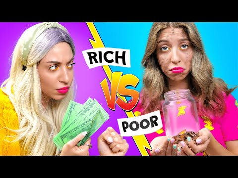 RICH GIRL vs POOR GIRL. I can't afford the dress for the school play | Musical by La La Life
