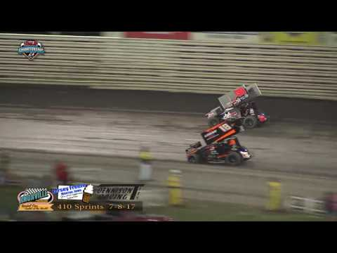 Knoxville Raceway 410 Highlights - July 8, 2017