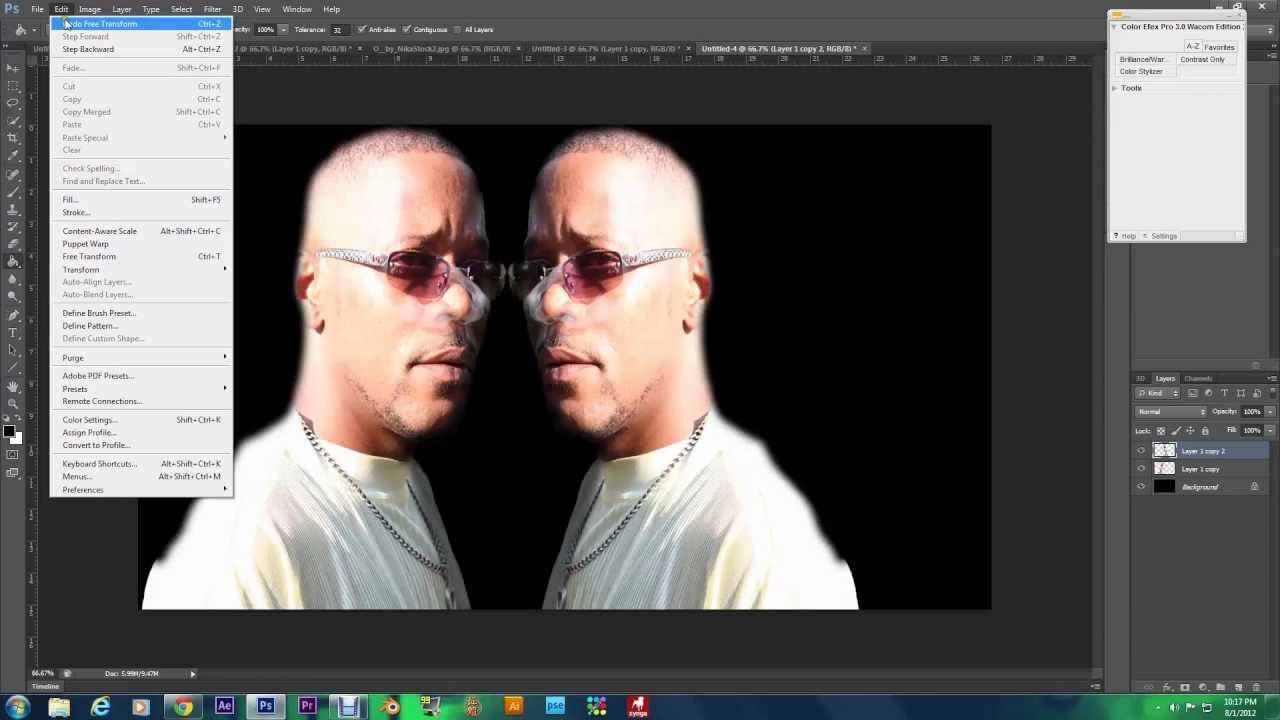 How to in image photoshop mirror