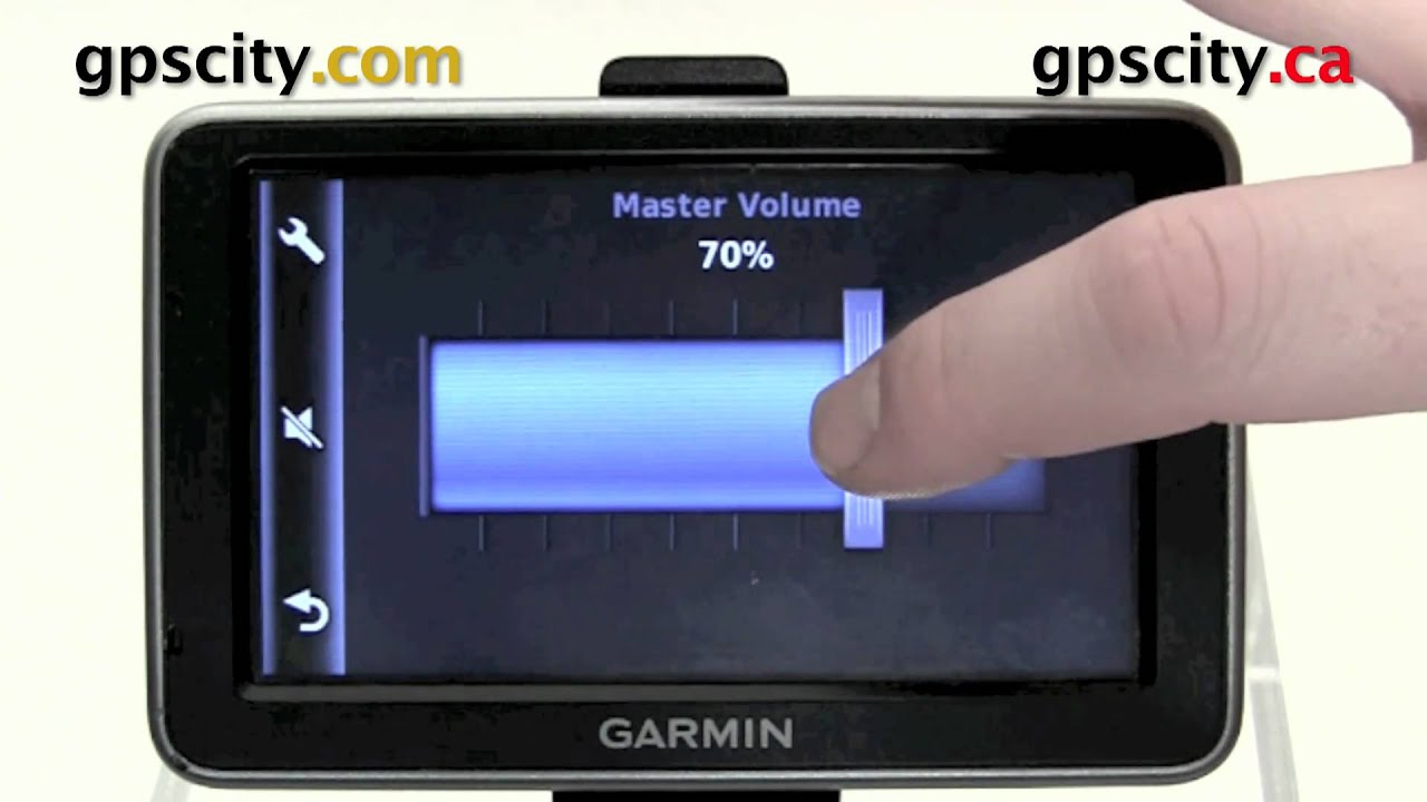 Adjusting The Volume In The Garmin Nuvi  And Nuvi  Gps With Gps City