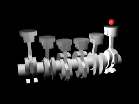 straight 6 engine animation