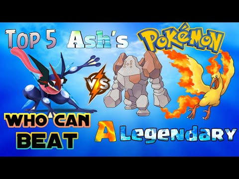 Top 5 Ash's Pokémon Who can beat a Legendary ( Explain in Hindi )