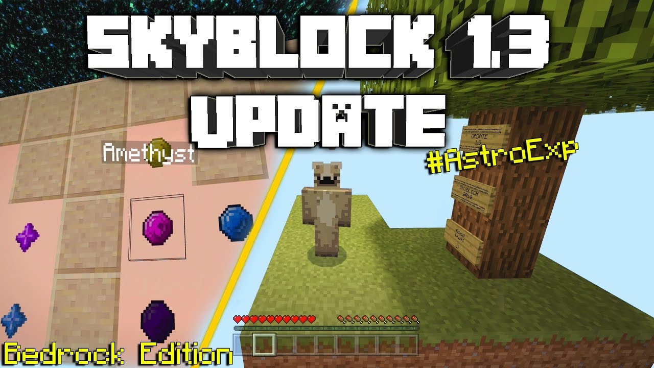 Minecraft Skyblock 2018 Update 13 Bedrock Edition Map W Downloadastroexp