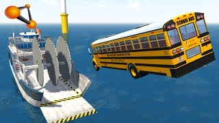 BeamNG.drive - Giant Saw Against Cars #4