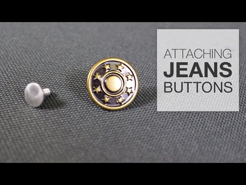 8e1e1424e How to Attach a Jeans Button - YouTube