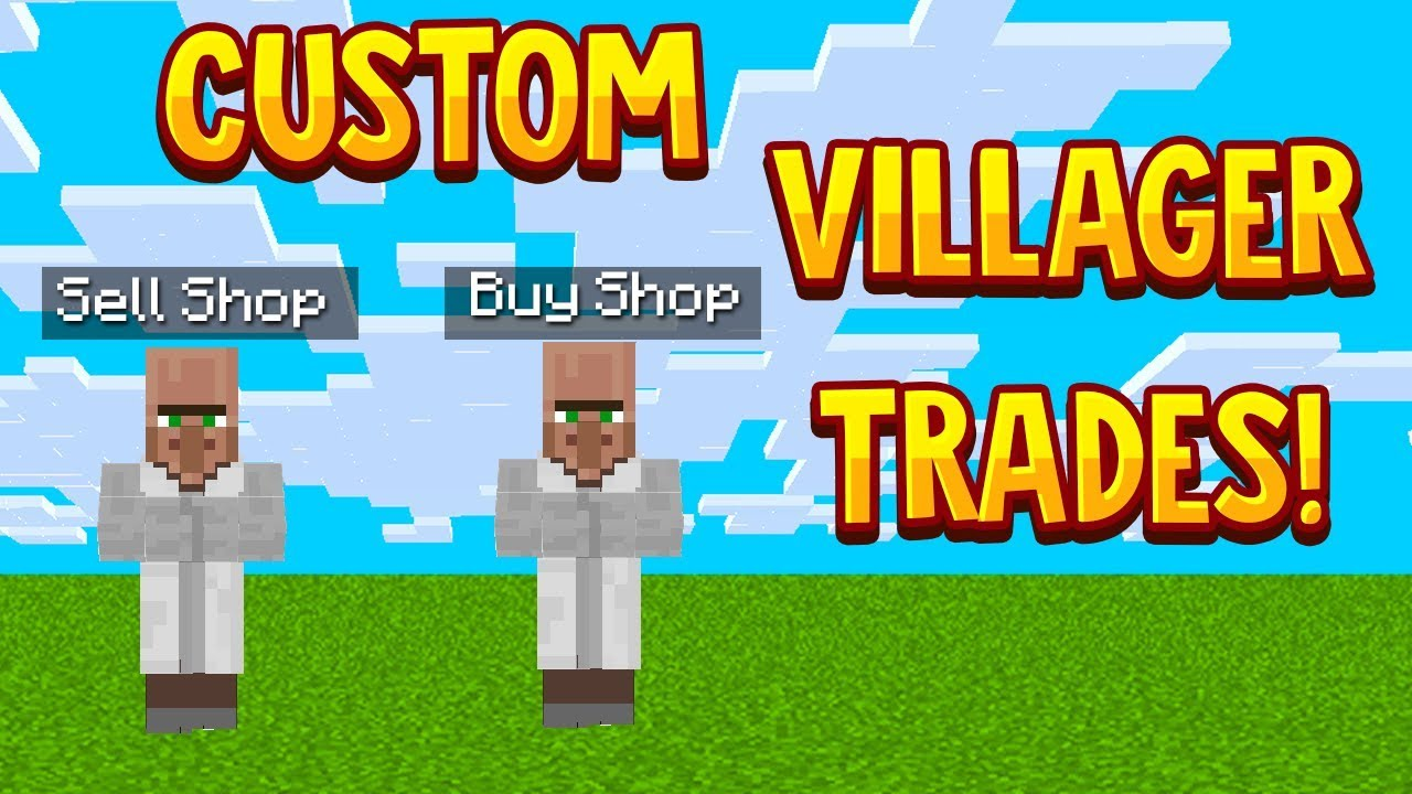 Minecraft Bedrock: HOW TO MAKE CUSTOM VILLAGERS TRADES (EASY AND