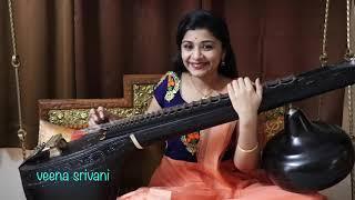 #Thendral Vandu Theendum in (Tamil)#challagaali Taakutunna in(Telugu)song by veenasrivani