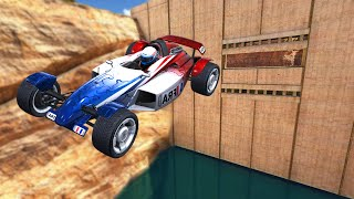 ULTIMATE FLYING CANYON STUNTS! (Trackmania Turbo #1)