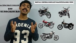royal enfield bullet 500 maintenance tips   6 tips on how i maintain my bullet   500 subscribers