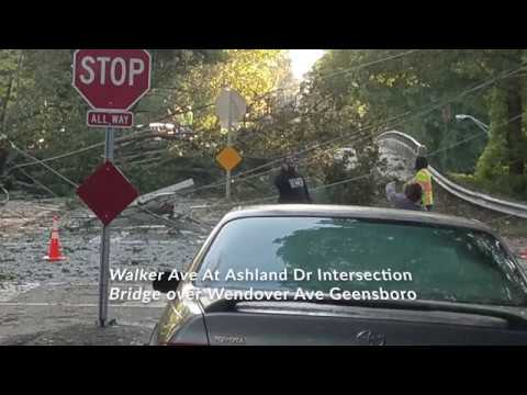 Storm Watch VC - Video and Photos of the Destruction from TS Michael in Greensboro, NC