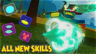 ALL SKILLS IN NEW MAP GHASTLY HARBOR *WHICH IS THE BEST?* IN DUNGEON QUEST ROBLOX