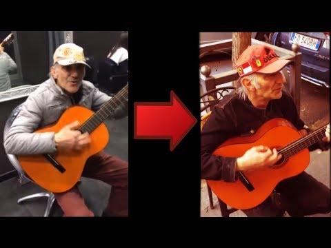 El increíble anciano vuelve a interpretar música con estilo - Sorprendente guitarrista.