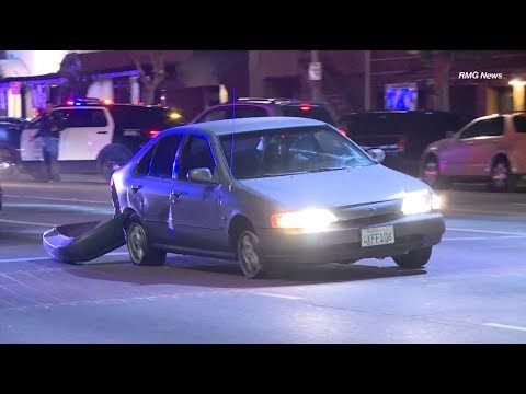 Suspect taken into custody after lengthy pursuit in the San Fernando Valley, California.