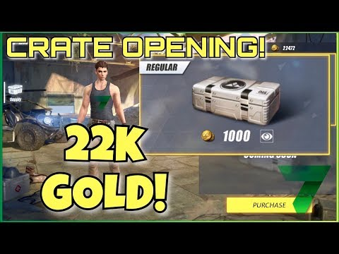 CRATE OPENING 22,000 GOLD! | Rules of Survival