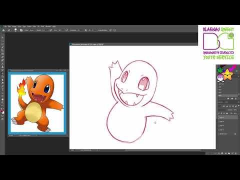 HOW TO DRAW Charmander From Pokemon With Turnip Starfish