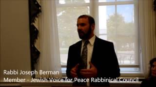 Jewish Voice for Peace Congressional Briefing - Rabbi Joseph Berman