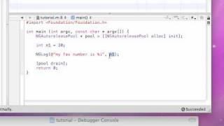 Objective C Programming Tutorial - 3 - Variables