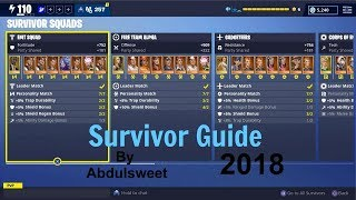 How To Get The Most PWR Of The Survivor Squads! (Fortnite Save The World Homebase)