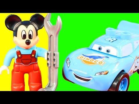 Thumbnail: Lego Duplo Disney Cars Pixar Lightning McQueen Dinoco Stage Meets Mickey Mouse Clubhouse
