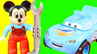 Lego Duplo Disney Cars Pixar Lightning McQueen Dinoco Stage Meets Mickey Mouse Clubhouse