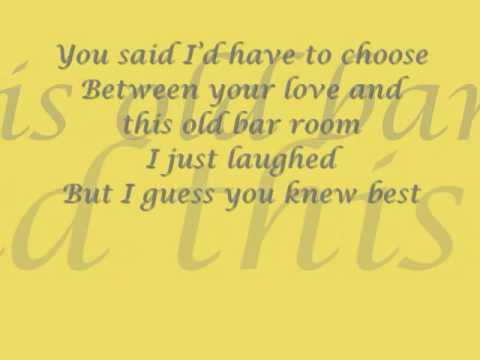 drinking me lonely (chris young) full lyrics