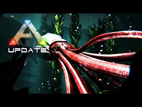 ARK UPDATE 253 - Tusoteuthis GIANT SQUID TAMMING & Underwater Cave