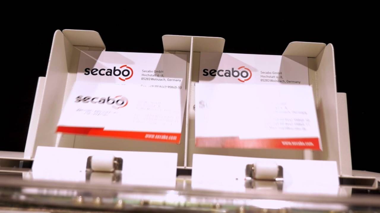Secabo CC21 and CC30 business card cutters - YouTube