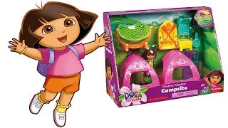 DORA l'ESPLORATRICE Italiano - Apriamo il Campeggio di Dora [Apertura Gioco per Bambini]