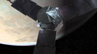 Juno spacecraft Jupiter arrival animation