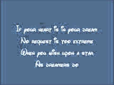 Pinocchio-When You Wish Upon A Star Lyrics