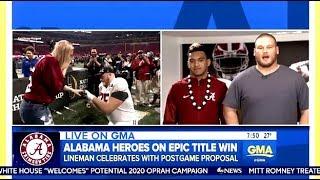 Alabama's Winning Freshman QB & Sideline Proposal (National Championship)