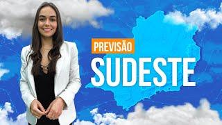 Previsão Sudeste - Chove no Sul de SP e entre o RJ e ES.