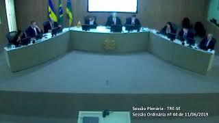 Sessão Plenária do TRE-SE (11/06/2019)