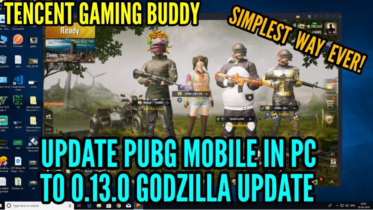 How To Update Pubg Mobile In Pc To 0 13 0 Godzilla Update Pubg New