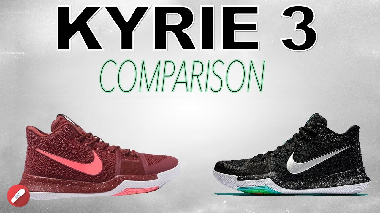 f3214bf9561 Nike Kyrie 3 Replica Comparison! - YouTube